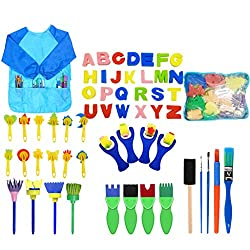 ★Package: A variety of different sets to meet the needs of children of all ages. toddlers early doodle learning set, perfect for painting with toddlers, fulfill your kids' different requirement about drawing. ★These lovely little painting accessory s...