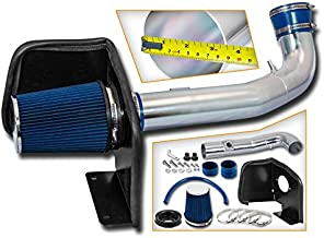 Cold Air Intake System with Heat Shield Kit + Filter Combo BLUE Compatible For 09-14 Cadillac  Escalade 5.3L/6.0L