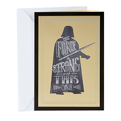 Hallmark Funny Star Wars Graduation Card (Darth Vader, The Force Is Strong)
