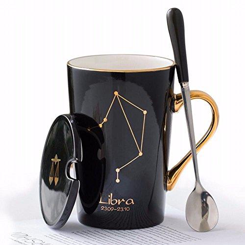 WU-Mug Creatieve sterren cup, keramische koppen, eenvoudige beker met deksel, luchthoed, gepersonaliseerd koffiekopje, koffiekopje, de weegschaal
