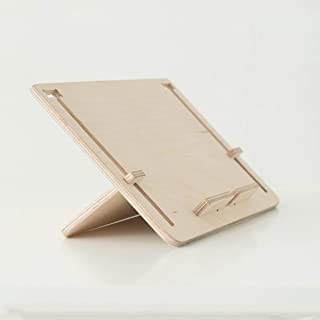supporto per tablet, e-book o libri, realizzato in legno, adatto solo per inclinazione, desktop, divano, letto, videoconfe...