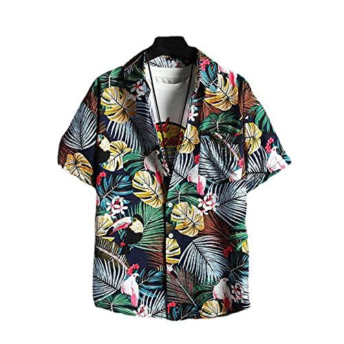 SSBZYES Mens Shirts Short-Sleeved Summer Shirts Mens Plus Size Shirts Short-Sleeved Shirts Mens Fashion Shirts Beach Loose Flower Shirts