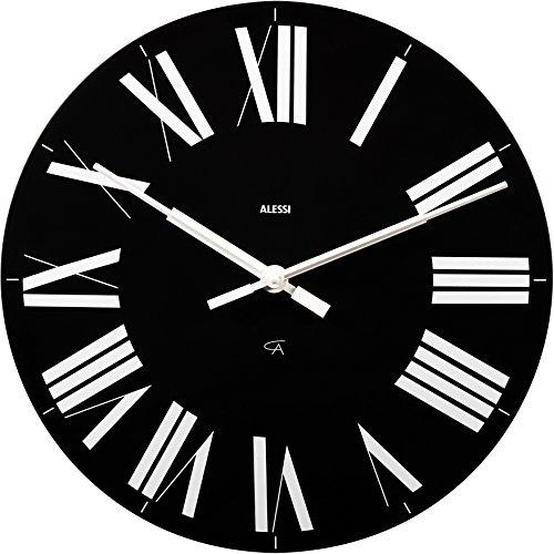 【正規輸入品 メーカー保証付き】 ALESSI アレッシィ Firenze アナログ ウォールクロック/ブラック 12 B