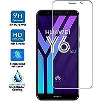 ELECTRÓNICA REY Protector de Pantalla para Huawei Y6 2018, Cristal Vidrio Templado Premium