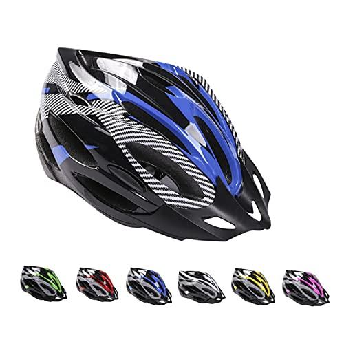 Casco de Bicicleta de Montaña, Casco de Bicicleta para Adultos Casco Ajustable con Visera Extraíble Casco de Bicicleta MTB City Specialized para Bicicleta de Montaña y para Hombres y Mujeres Azul