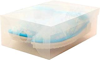 Chaussures en Plastique Transparent Boîtes superposable Lidded Homme Femmes Bottes Organisateur Chaussures Cas Boîtes de R...