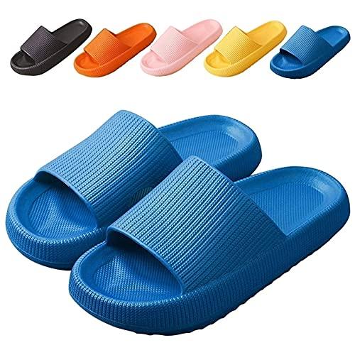 joyvio Zapatillas de cojín para Hombres y Mujeres, Sandalias de Ducha, Zapatillas de Piscina, Zapatillas Abiertas, Zapatillas de Interior, toboganes de Playa, Zapatillas Suaves