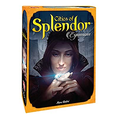 Cities of Splendor Board Game EXPANSION | Family Board Game | Board Game for Adults and Family | Strategy Game | Ages 10+ | 2 to 4 players | Average Playtime 30 minutes | Made by Space Cowboys