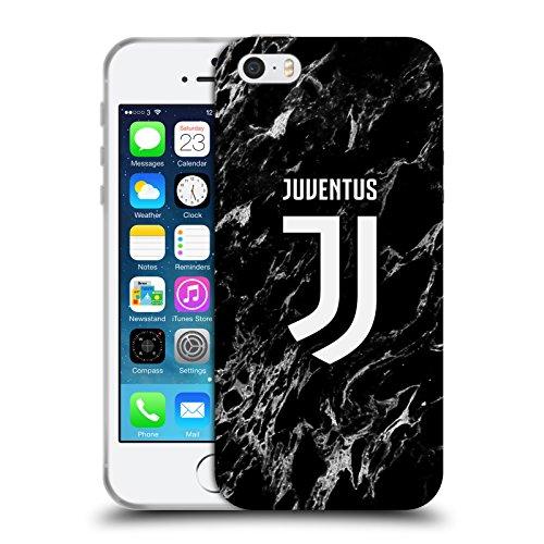 Head Case Designs Ufficiale Juventus Football Club Nero Marmoreo Cover in Morbido Gel Compatibile con Apple iPhone 5 / iPhone 5s / iPhone SE 2016