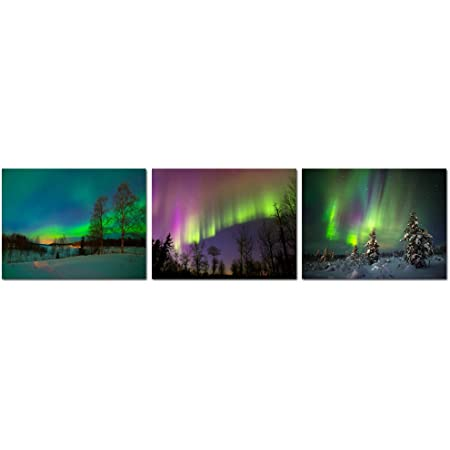 Northern Lights Iceland Canvas Wall Picture Print  ~ 9 Sizes