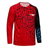 Men's Cycling Jersey MTB Downhill T-Shirt Long Sleeve Mountain Bike Motorcycle Outdoor Bicycle Clothes