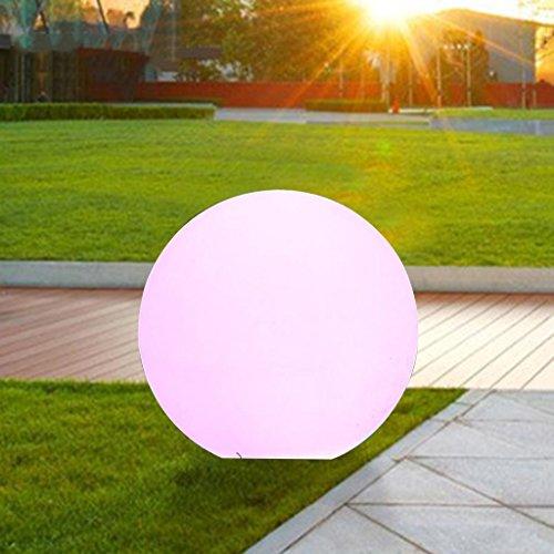 Augrous Led-vloerlamp, 7 kleuren, wisselend, voor buiten, waterdicht, oplaadbaar, kunststof, bolvormig