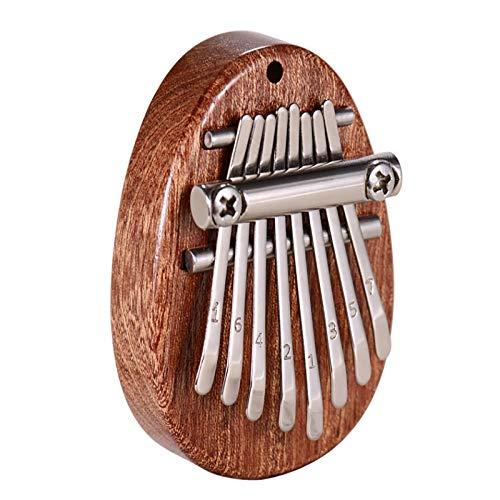 Kalimba - Mini pianoforte a 8 tasti di alta qualità, strumento a percussione per i principianti della musica, il miglior regalo di Natale per bambini, famiglia e amici
