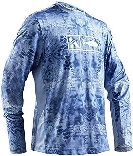 Performance Fishing Shirt Men's Vented Long Sleeve UPF 50 Sun Protection Quick Dry Cooling Mesh Sides Rash Guard