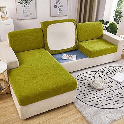 Eantpure Funda de sofá elástica Funda de sofá Todo Incluido Funda de cojín Universal de Cuatro Estaciones Funda-Rosemary - Green_No.8 Aumenta Tres Personas