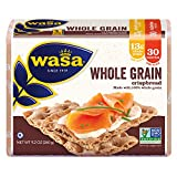 WASA Whole Grain Swedish Crispbread, 9.2 Ounce, All-Natural Crackers, Non-GMO Ingredients, Fat Free, No Saturated Fat, 0g of Trans Fat, No Cholesterol, 100% Whole Grain, Kosher Certified