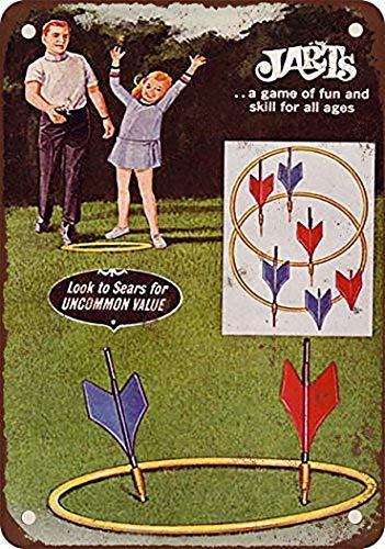 Great Tin Sign Aluminum Metal Sign 1969 Jarts Lawn Darts Game Vintage Look 8x12 Inch
