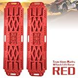 LITEWAY Traction Boards with Jack Lift Base- 2 Pcs Traction Mat for Sand Mud Snow Track Tire Ladder 4X4 - Recovery Traction Tracks.