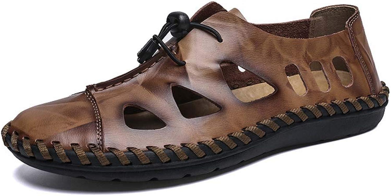 Mans Sandaler läder Baotou Casual Sandals Sandals Sandals Handgjorda Stora Stora Stora Stora Stora Stora Stora Hålsskor Sommar  spara 60% rabatt och snabb frakt över hela världen