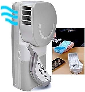 QUMOX Mini Fan Ventilador de Aire de Mano Mini refrigerador portátil USB, Gris