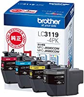 【brother純正】インクカートリッジ4色パック(大容量) LC3119-4PK 対応型番:MFC-J6983CDW、MFC-J6583CDW、MFC-J5630CDW 他