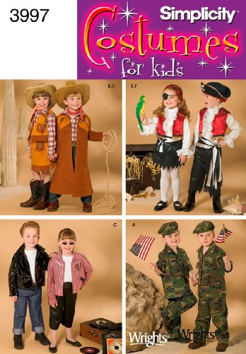 Simplicity Sewing Pattern 3997 Child Costumes, A (3-4-5-6-7-8)