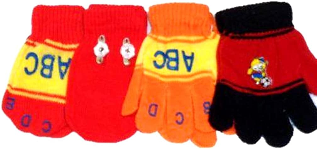 Set of Four Pairs Magic Mittens Gloves 6 Infants Max OFFicial mail order 49% OFF Months for Ages