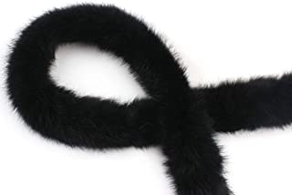 Fake Faux Fur Trimming Furry Ribbon Accessories, Artificial Rabbit Fur DIY Sewing For Costume, Crafts, Hoods & Coats Edging
