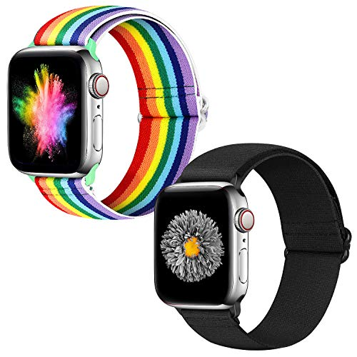 Neoxik Correas de repuesto para Apple Watch, 38 mm, 40 mm, silicona suave, repuesto para iWatch Series 6/5/4/3/2/1