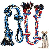 Zutesu Dog Rope Toy for Aggressive Chewer(7-60lb), 2 Pack Interactive Dog Chew Toys for Medium to Large Breed Dogs, Almost Indestructible Puppy Teething Chew Tug of War Toy for Training
