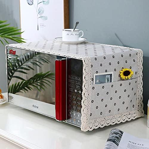 Lzjbs Protector de Cubierta de microondas Campana de Horno de microondas Cubierta de Polvo de Aceite con Bolsa de Almacenamiento Suministros para el hogar Accesorios de Cocina