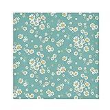TropicalLife HaJie Tovaglioli di carta con motivo floreale a margherite e fiori, in tessuto di poliestere satinato, riutilizzabili, per tavolo e bambini, 50,8 x 50,8 cm, 4 pezzi