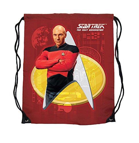 Star Trek – Sac de gym – Sac en tissu Captain Picard – 44 x 35 cm