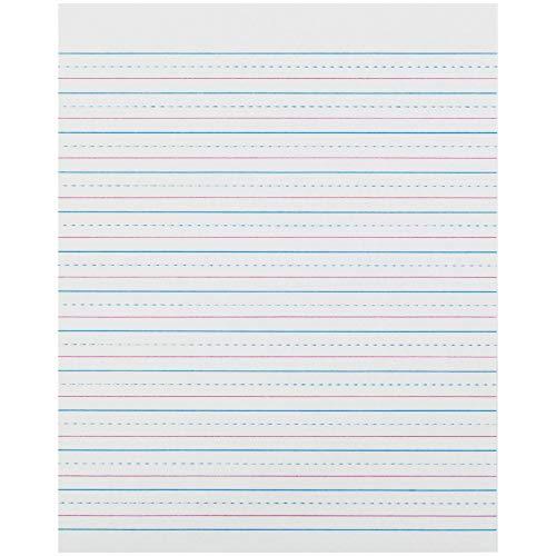 Pacon PACZP2413 Zaner-Bloser Sulphite Handwriting Paper, Dotted Midline, Grade 2, 1/2' x 1/4' x 1/4' Ruled Short, 8' x 10-1/2', 500 Sheets