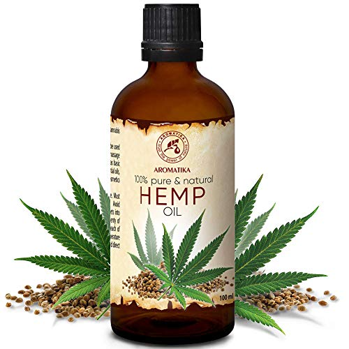 Hanföl 100ml - Cannabis Sativa Seed Oil - Kaltgepresst - 100{aa2fa427e18d39ab5a65fe06611619d8b5c63b344f95cd4bedf5f3529bb9dcff} Reines & Natürlich - Glasflasche - Hanf Öl - Basisöl - Hanfsamenöl - Intensive Pflege für Gesicht - Haare - Körperpflege