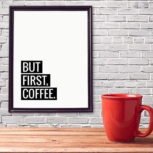 yaoxingfu Kein Rahmen Kaffee Zitat Wall Art Prints Küche Home Decor, Liebe Kaffee Poster Leinwand ng druckt Coffee Shop Wall Decor 40x60cm