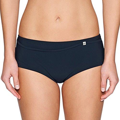 Marc O'Polo Body & Beach Damen Bikini-Panty Badeshorts, Schwarz (Blauschwarz 001), 38 (Herstellergröße: 038)