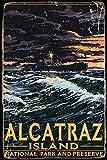Metal Tin Sign Vintage Shabby Chic Style Alcatraz Island