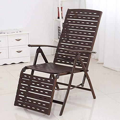 LXGANG Mimbre silla de salón, Descanso for comer silla de mimbre plegable, silla de la oficina de la siesta, la casa Balcón mecedora perezoso, Hogar al aire libre Tumbona, silla de mimbre Silla del co