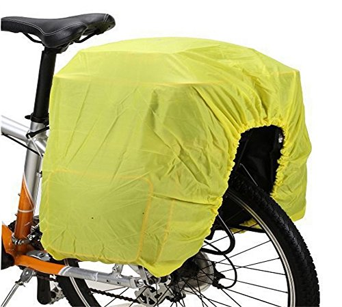 MINA-Products bagagedrager fiets regenhoes universele maat - fluorescerend - afdekking/hoes - bescherming tegen regen en stof voor uw bagage - fiets fiets bike 100x50cm - rekbaar