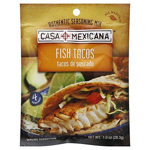 Casa Mexicana Fish Taco Seasoning Mix 1.0 OZ (Pack of 3)