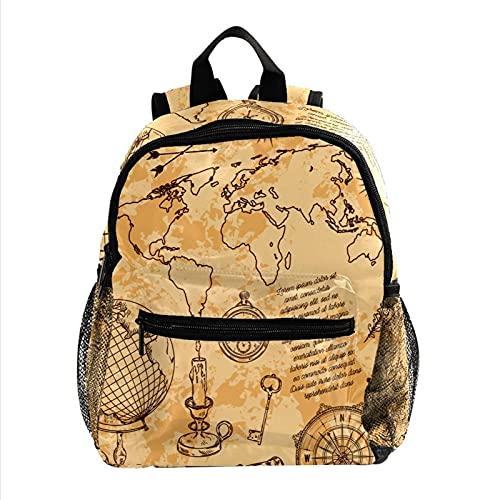 Linda Mochila Explorar el Mundo Cute Student Backpack Design Mejor Mochila para niños Mochila Grande y Clara para Adolescentes Niñas Niños 25.4x10x30 CM