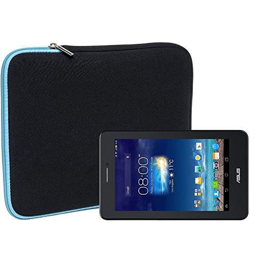 Slabo Tablet Tasche Schutzhülle für Asus Fonepad 7 Hülle Etui Case Phablet aus Neopren – TÜRKIS/SCHWARZ