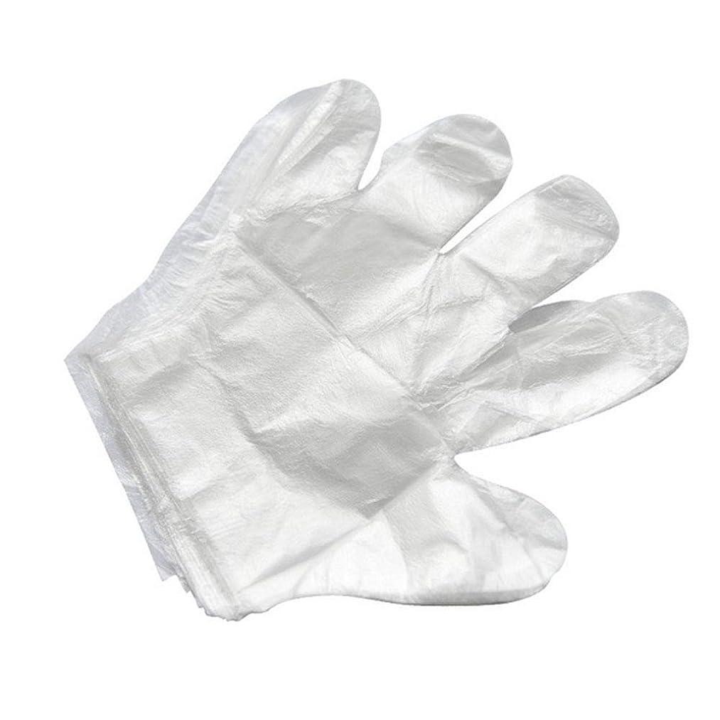 リングレット請求可能魔術師使い捨て手袋バーベキューアクセサリー高度なキャスティング手袋使い捨てケータリングDIYクリーニングヘアダイ食品グレードプラスチック手袋(2000)透明のみ