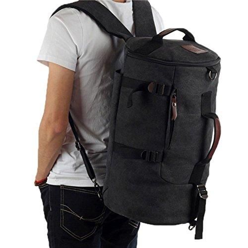 Sincere® la mode Fashion Backpack / Zipper Sacs à dos / Rue / Multifonction / grande capacité sac à bandoulière / rétro sac à dos de toile des hommes / extérieur sac noir escalade sac / seau