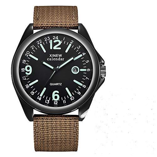 Hffan Holzuhr – Elements Collection Henri analoge Unisex Quarz Uhr, Naturholz Ziffernblatt, Canvas Armband, Durchmesser 38mm