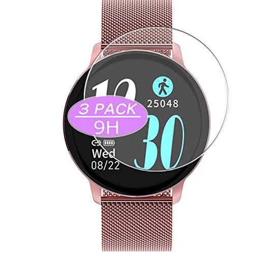 VacFun 3 Piezas Vidrio Templado Protector de Pantalla, compatible con NAIXUES R5 smartwatch Smart Watch, 9H Cristal Screen Protector Protectora Reloj Inteligente