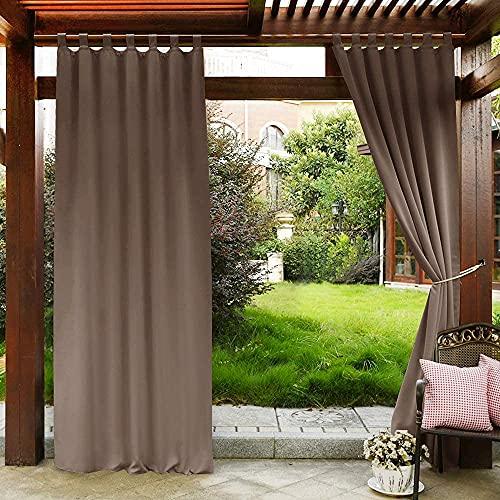 PONY DANCE Patio Curtains Outdoor - Waterproof Garden Tab Top Water...