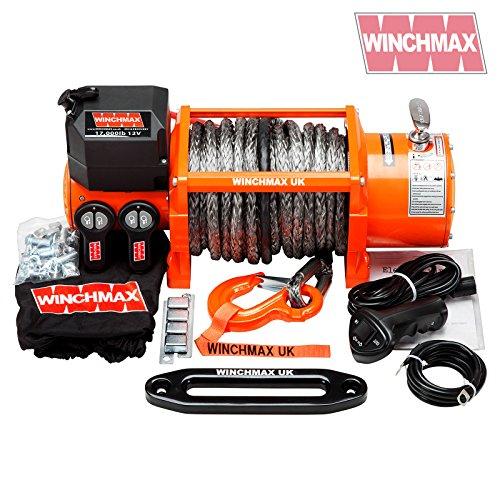 Winchmax Elektrische Seilwinde, 24 V, 4 x 4, 17000 lb, kabellos, synthetische Dynamik