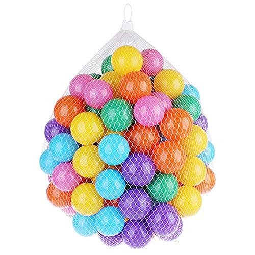 KNDJSPR Kids Ball Pit, de 100 Bolas de plástico a Prueba de aplastamiento sin BPA sin ftalatos, 6 Colores Brillantes en Bolsa de Malla de Almacenamiento Reutilizable y Duradera con Cremallera